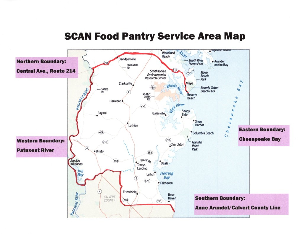 SCAN Service Area Map